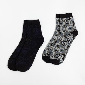 """Набор мужских носков (2 пары) """"Пейсли"""" р-р 27-29 , 80% хл.,15% п/а, 5% эл."""