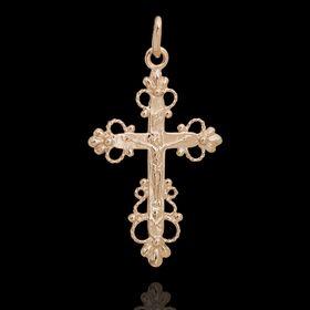 Крест нательный малый, позолота Ош
