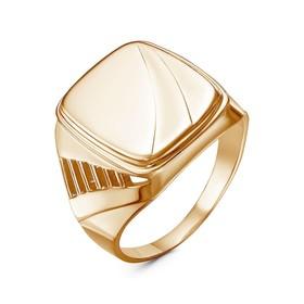 """Кольцо """"Перстень"""" мужской, позолота (2301165цр), 20,5 р-р"""