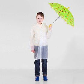 Зонт детский полуавтоматический 'Забавные смайлы', r=37см, цвет салатовый Ош