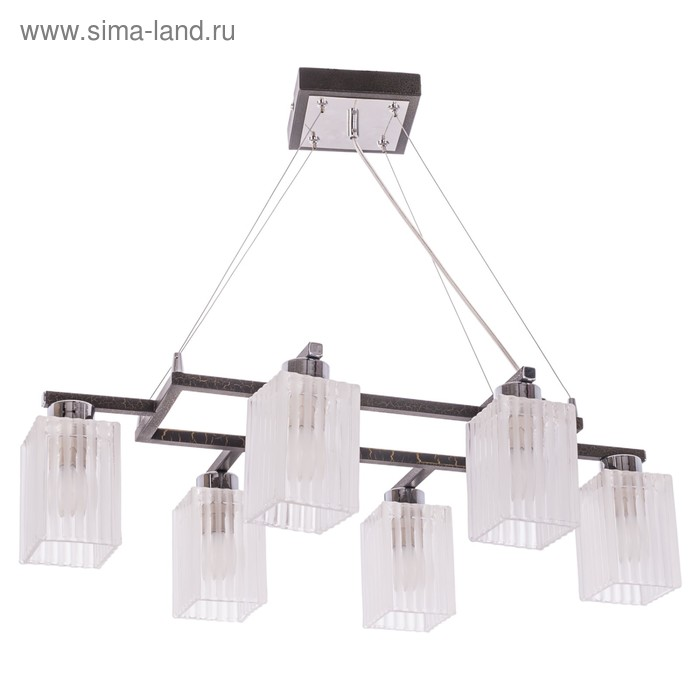 """Люстра подвес """"Эмилия"""" 6 ламп хром"""