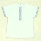Рубашка для крещения, рост 74 см, цвет белый 00319-08_М
