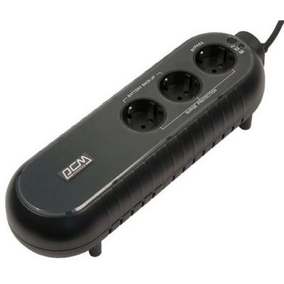Источник бесперебойного питания Powercom WOW 300, 165 Вт, 300 ВА, черный