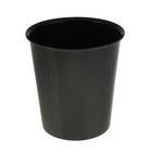 Корзина для бумаг 14 литров, цельная, черная