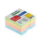 Блок бумаги для записей в пластиковом боксе 9*9*5см цветной