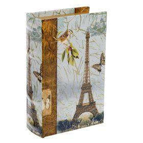 """Сейф-книга дерево """"Париж, золотой дождь"""" 17х11х5 см"""