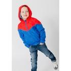 Ветровка для мальчика, рост 110-116 см, цвет красный/синий 1043