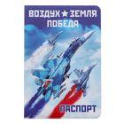 """Обложка для паспорта """"Воздух, земля, победа"""""""