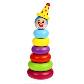 """Пирамидка """"Клоун"""", 6 колец"""