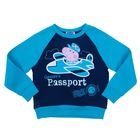 Джемпер (толстовка) для мальчика, рост 104 см (60), цвет синий/бирюзовый ZB 09199-GB1