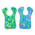Нагрудник из клеёнки с ПВХ-покрытием, на липучке, цвета МИКС