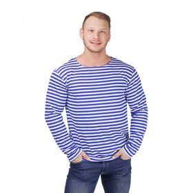 Тельняшка мужская ФМ01, цвет синий, р-р 56
