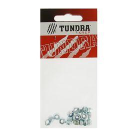 Гайка самоконтрящаяся DIN985 TUNDRA krep, оцинкованная, М5, в пакете 20 шт. Ош