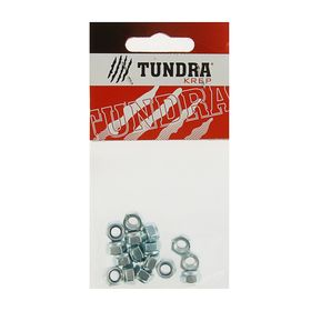 Гайка самоконтрящаяся DIN985 TUNDRA krep, оцинкованная, М6, в пакете 16 шт. Ош