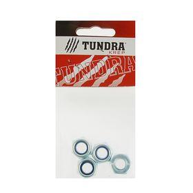 Гайка самоконтрящаяся DIN985 TUNDRA krep, оцинкованная, М10, в пакете 4 шт. Ош
