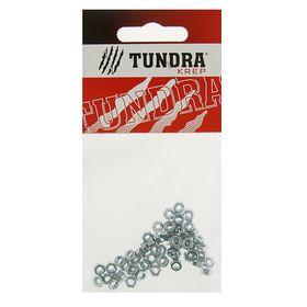 Гайка шестигранная DIN934 TUNDRA krep, оцинкованная, М3, в пакете 60 шт. Ош