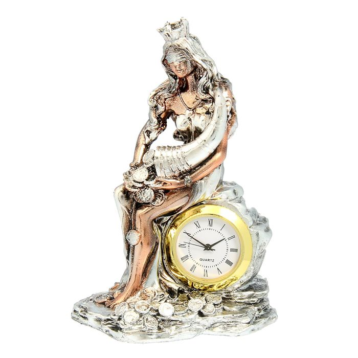 """Сувенирные часы """"Фортуна"""", цвет золото-серебро"""