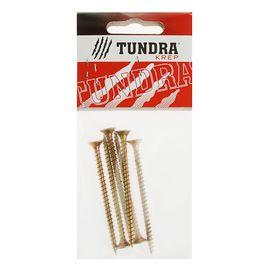 Саморезы универсальные TUNDRA krep, 5х70 мм, жёлтый цинк, потай, 6 шт.