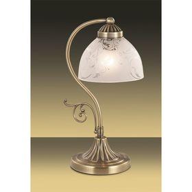 """Настольная лампа """"Касти"""" 1 лампа (E27 40W 220V) бронза/белый"""