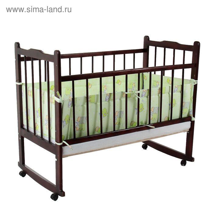 """Борт в кроватку """"Баю-бай"""", размер 360*30 см, цвет зелёный"""
