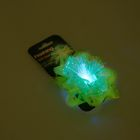 Бант-звезда светящийся, зеленый, 8,5 см