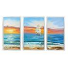 """Модульная картина в раме """"Парусник на горизонте"""", 1 — 38×60, 2 — 31×60, 60×100 см"""