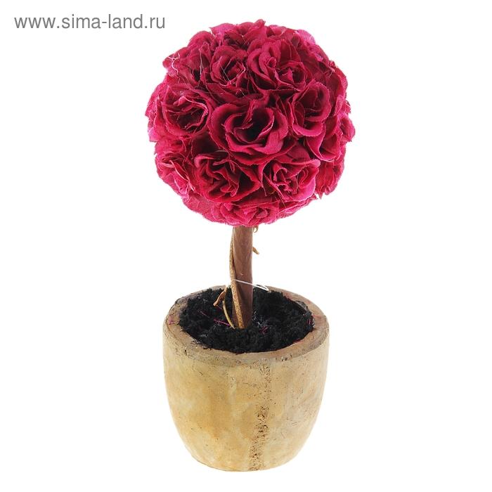 """Бонсай искусственный """"Шар из роз"""""""