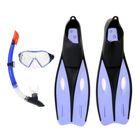 Набор для плавания Dream Diver, для взрослых, 3 предмета: маска, трубка, ласты, размер 40-42, цвет МИКС Bestway