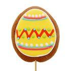 Пряник имбирно-медовый Яйцо пасхальное на палочке ТМ Пекарня Sofi, 50 г