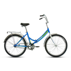 "Велосипед 24"" Forward Valencia 1.0, 2017, цвет синий, размер 16"""