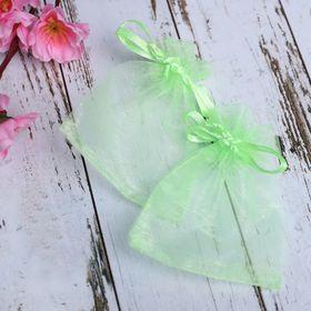 Мешочек подарочный 7x9, цвет светло-зеленый Ош