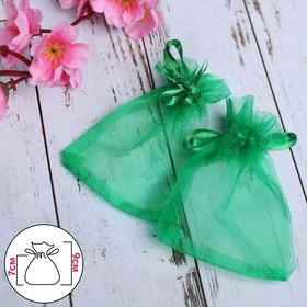 Мешочек подарочный 7x9, цвет темно-зеленый Ош