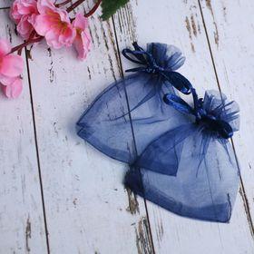 Мешочек подарочный 7x9, цвет темно-синий Ош