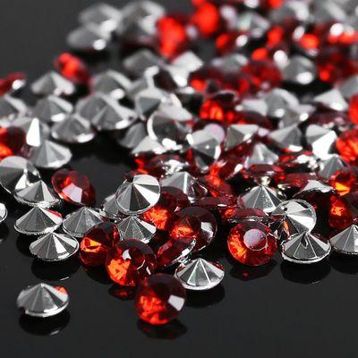 Стразы (набор 10грамм, 300шт), 5мм, цвет тёмно-красный №19