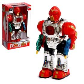 """Робот """"Стрелок"""" работает от батареек, световые и звуковые эффекты, цвета МИКС"""