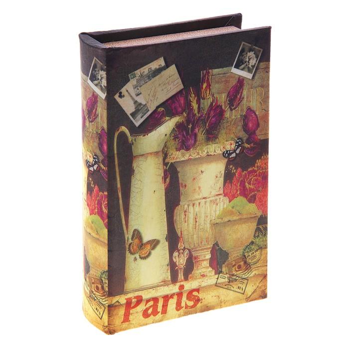 """Шкатулка-книга """"Французский стиль"""", обтянута искусственной кожей"""