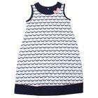 """Платье для девочки """"Белое море"""", рост 98 см (26), цвет белый/тёмно-синий Р708695"""