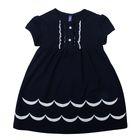 """Платье для девочки """"Две волны"""", рост 110-116 см (30), цвет тёмно-синий Р708696"""