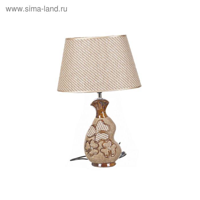 """Лампа настольная """"Полевые цветы"""" 30×18,5×47,5 см. цоколь-Е27 напряжение-220-250V, мощность-40W,"""
