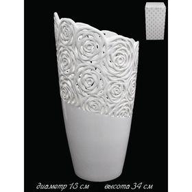 Ваза Valentino в подарочной упаковке, керамика, 34 см