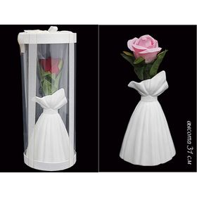 Ваза подарочная Rose в подарочной упаковке, платье, керамика, 31 см