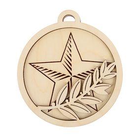 Заготовка для творчества 'Медаль со звездой и лавром' Ош