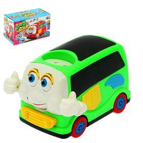 """Машина """"Веселый автобус"""", работает от батареек, 3D свет, звук"""