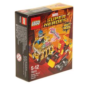 """Конструктор """"Mighty Micros: Железный человек против Таноса"""", 94 детали"""