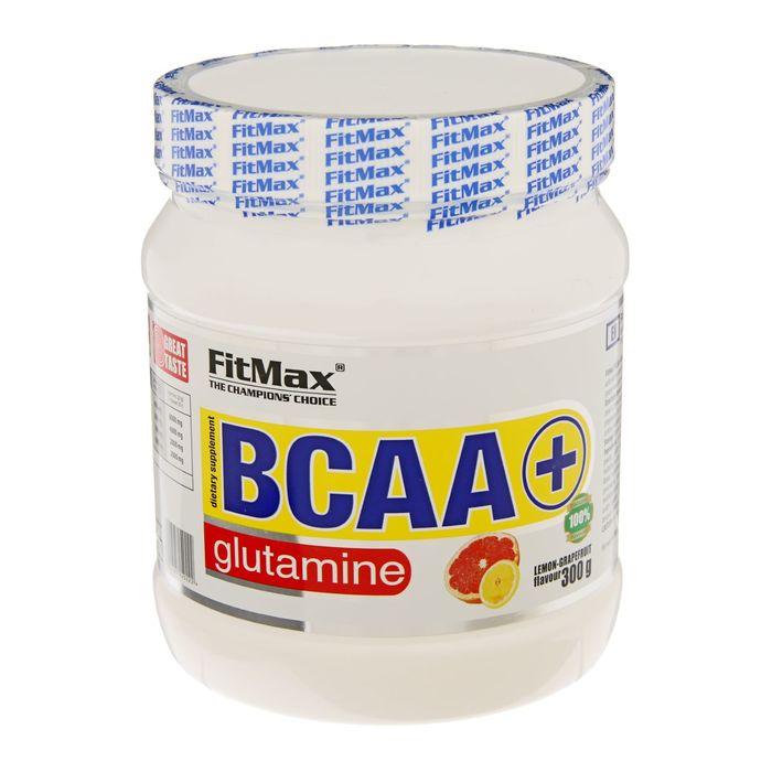 Аминокислоты BCAA + Glutamine FitMax, лимон/грейпфрут, 300 г