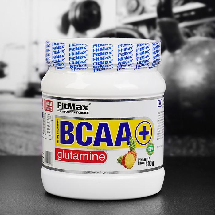 Аминокислоты BCAA + Glutamine FitMax, ананас, 300 г