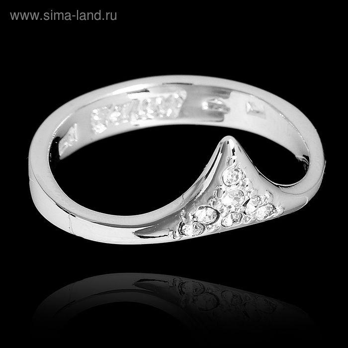 """Кольцо """"Хангин"""", размер 19, цвет белый в серебре"""