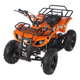 Квадроцикл детский бензиновый MOTAX ATV Х-16 Мини-Гризли, оранжевый, механический стартер