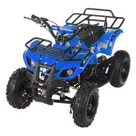 Квадроцикл детский бензиновый MOTAX ATV Х-16 Мини-Гризли, синий, электростартер и родительский пульт Ош