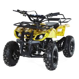 Квадроцикл детский бензиновый MOTAX ATV Х-16 Мини-Гризли, осенний камуфляж, электростартер и родительский пульт Ош